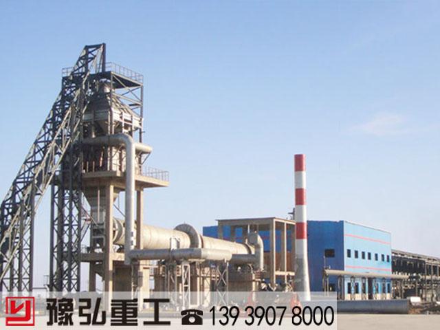 大型旋转窑设备露天生产线