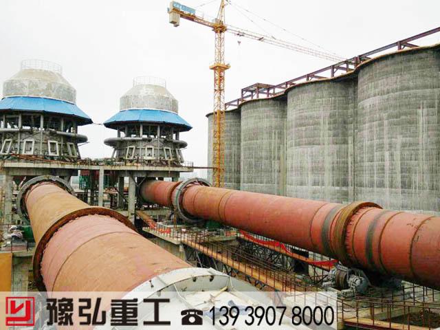 水泥高温煅烧设备大型生产现场